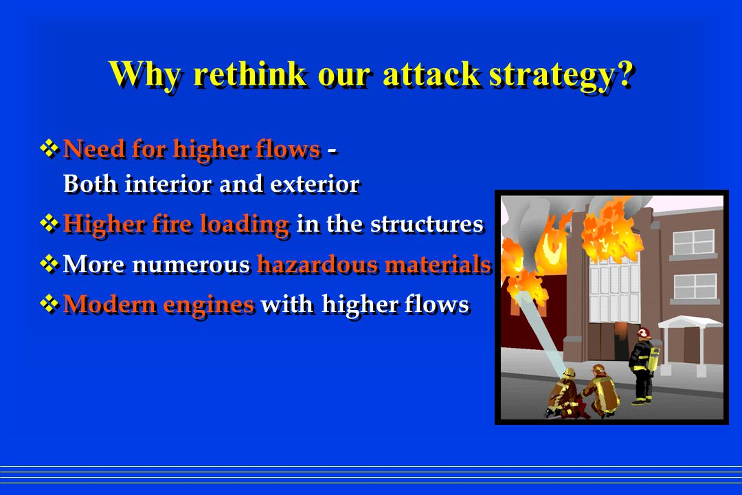 Why rethink our attack strategy.