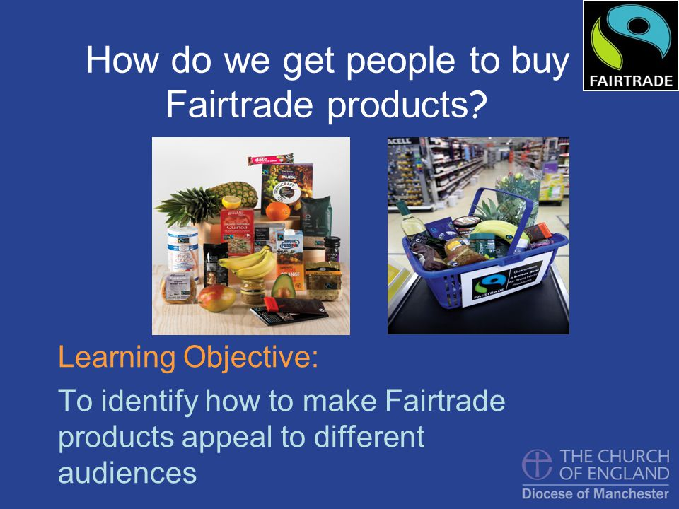 This is an advert for Fairtrade
