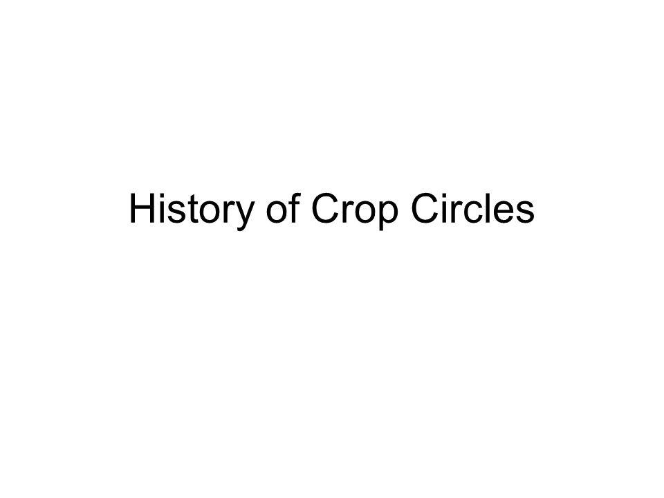 1972–First modern crop circle
