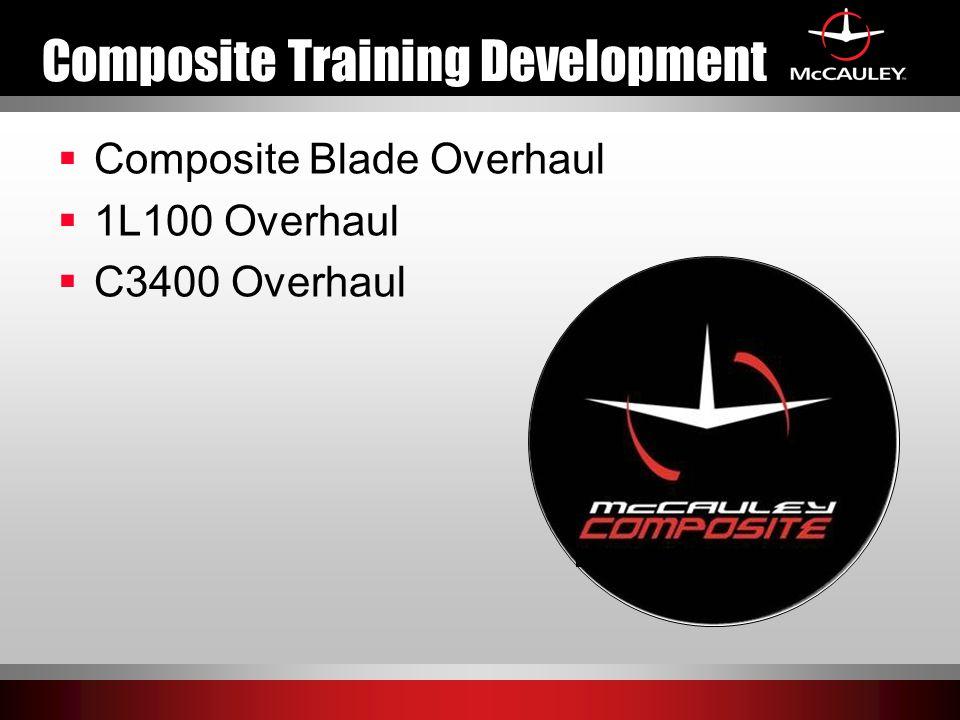 Composite Training Development  Composite Blade Overhaul  1L100 Overhaul  C3400 Overhaul