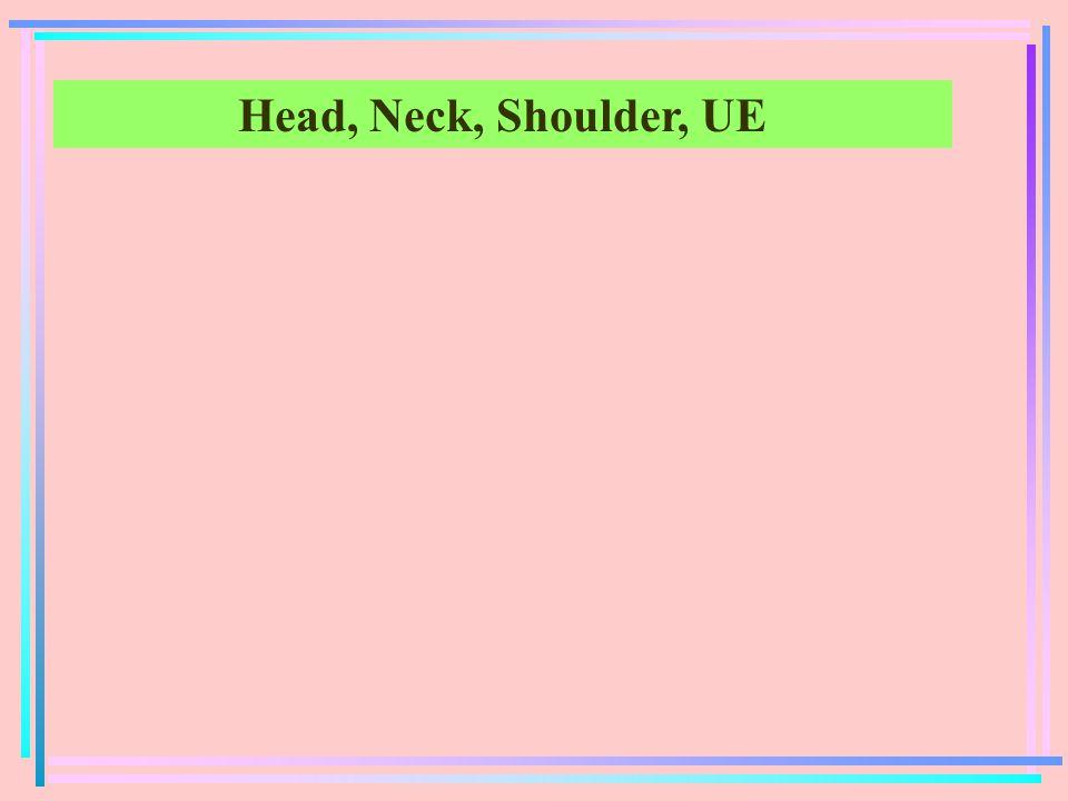 Head, Neck, Shoulder, UE