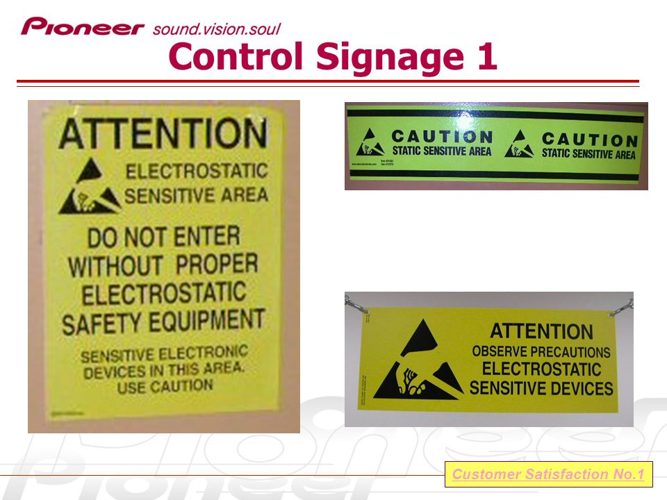 Customer Satisfaction No.1 Control Signage 1