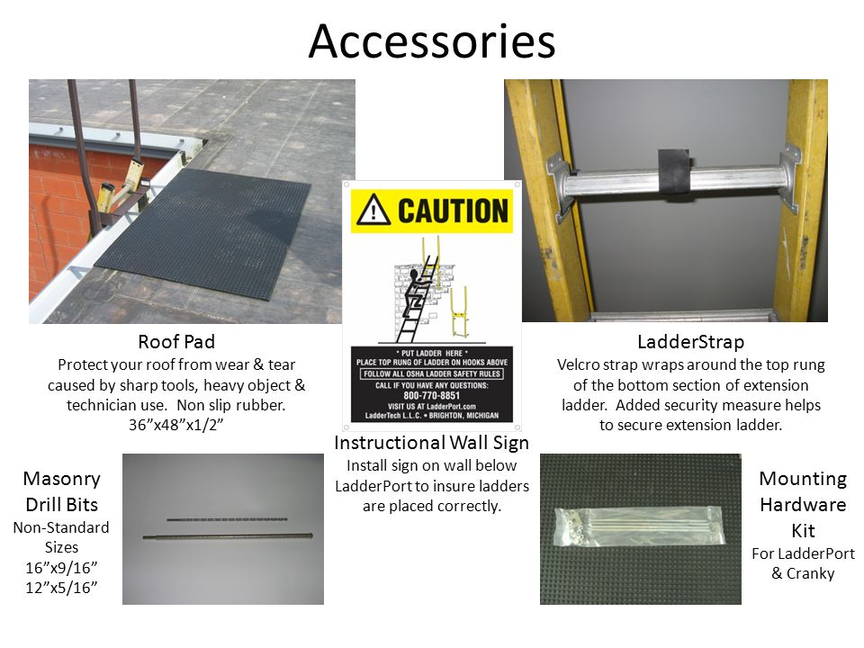 Accessories Roof Pad Protect your roof from wear & tear caused by sharp tools, heavy object & technician use.