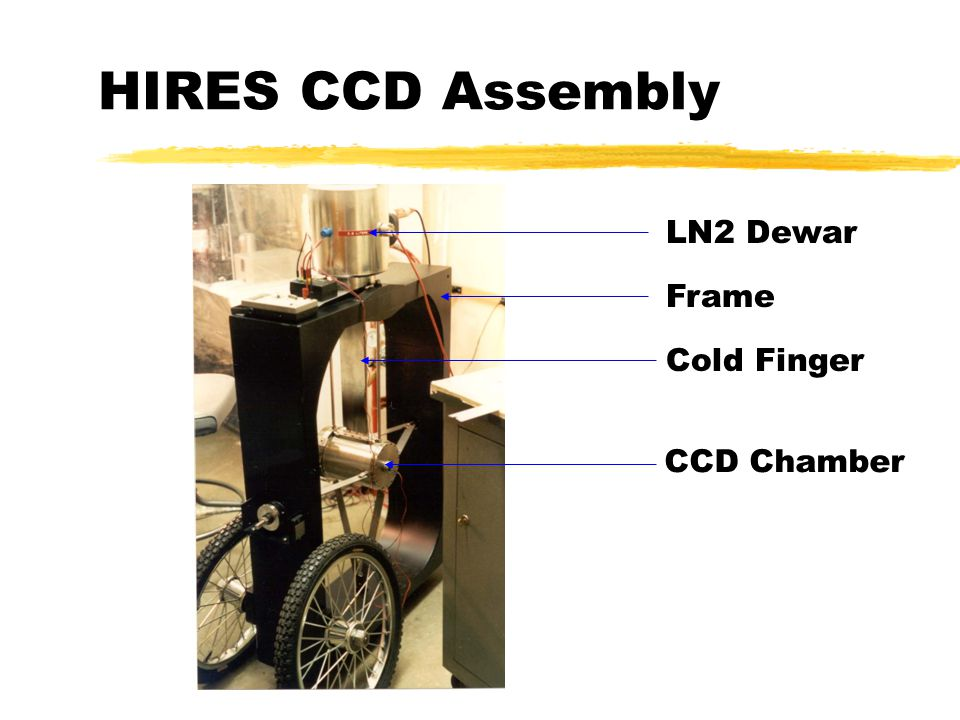 Engineering and Design Issues for the New HIRES CCD on the Keck I Telescope zVacuum Challenges yIncreased O-Rings zHigher Thermal Load zDesign Modifications yElimination of support ring ySwitch to silver yChange in support straps