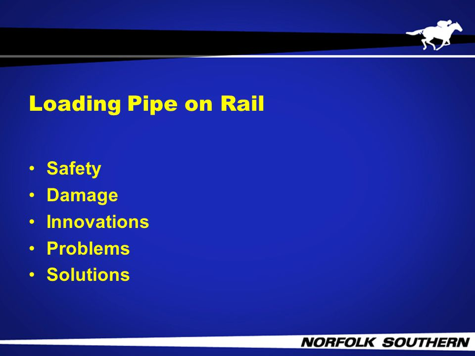 Loading Pipe on Rail Safety Damage Innovations Problems Solutions