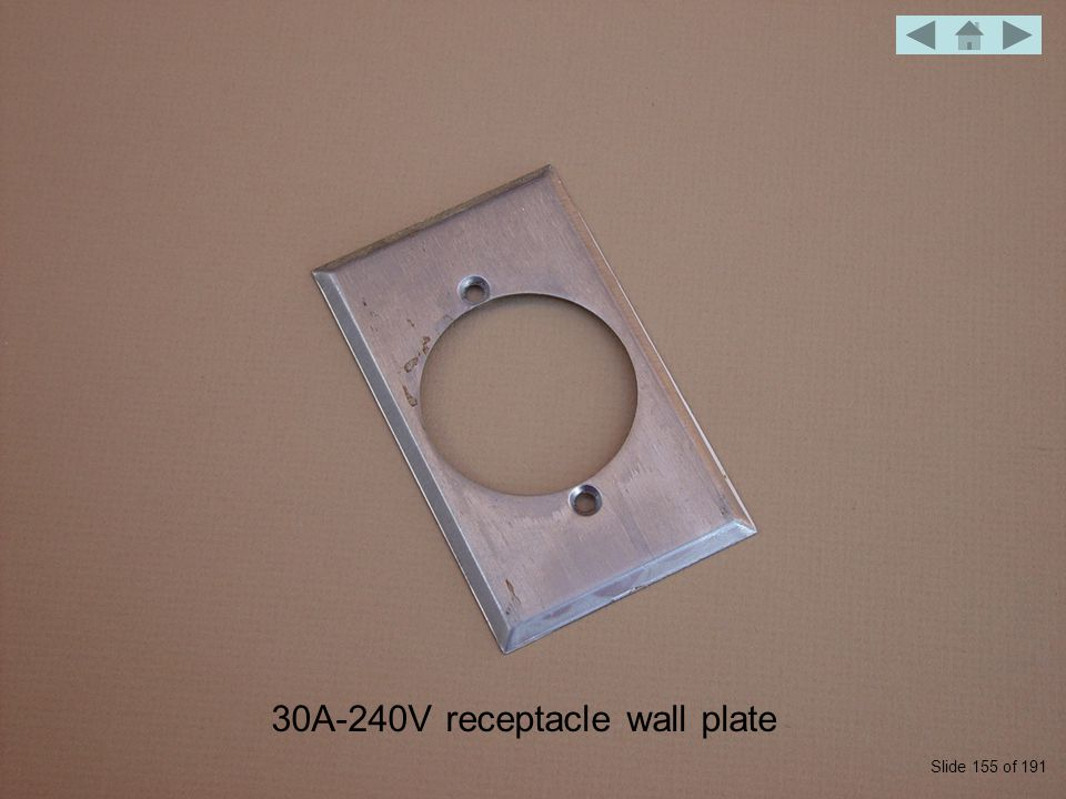 30A-240V receptacle wall plate Slide 155 of 191