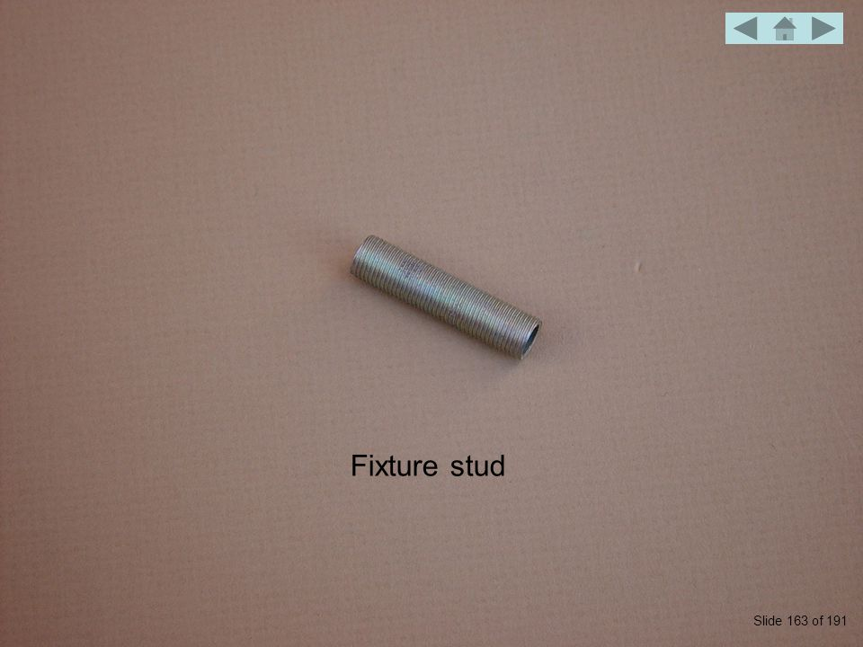 Fixture stud Slide 163 of 191