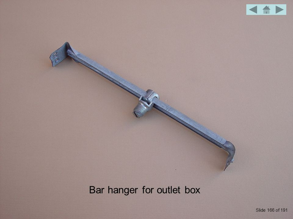 Bar hanger for outlet box Slide 166 of 191