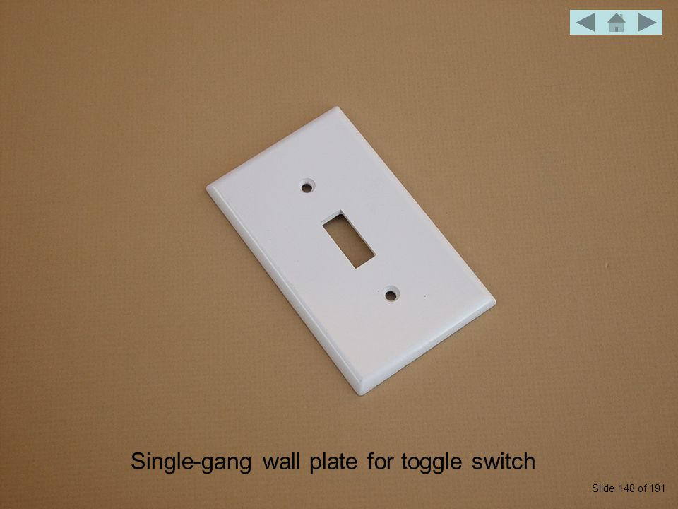Weatherproof wall plate with mounted single-pole switch Slide 159 of 191