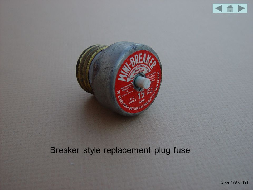 Breaker style replacement plug fuse Slide 178 of 191