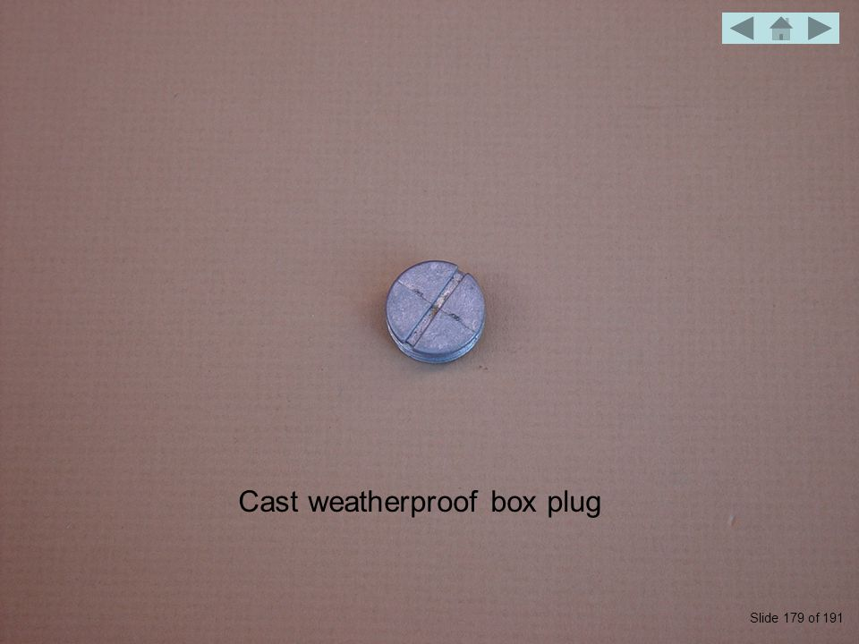 Cast weatherproof box plug Slide 179 of 191