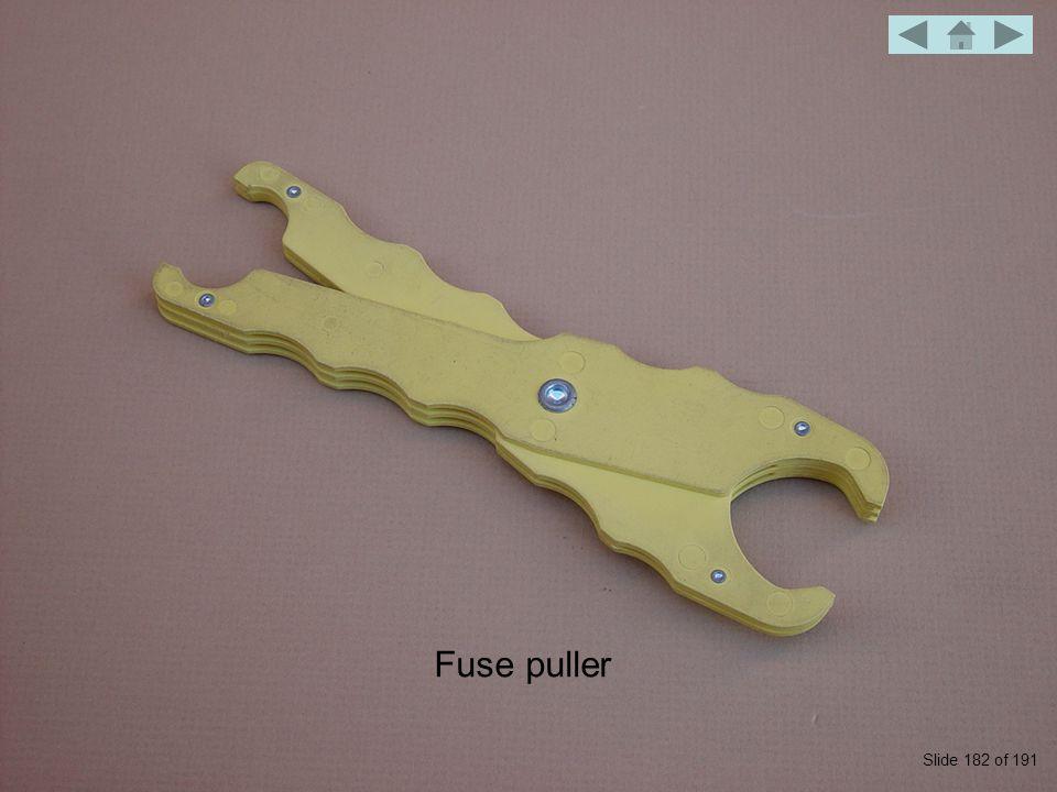 Fuse puller Slide 182 of 191