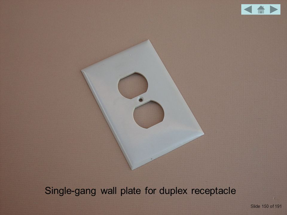 Single-gang wall plate for duplex receptacle Slide 150 of 191