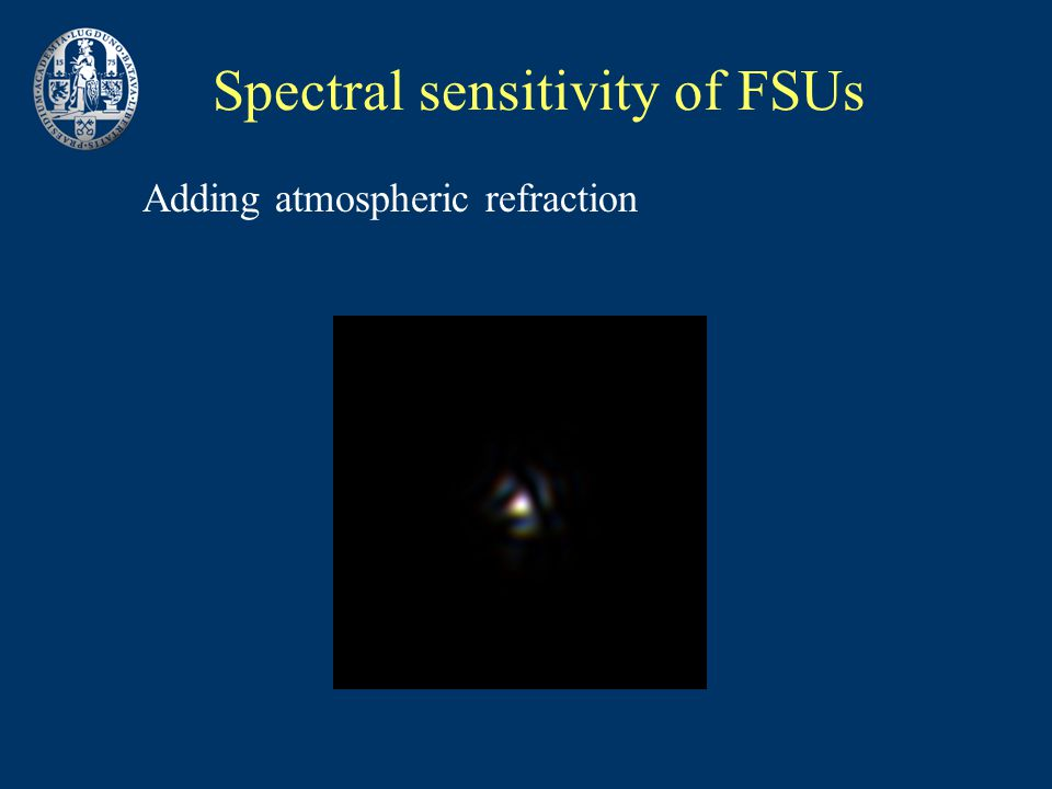 Spectral sensitivity of FSUs Adding atmospheric refraction