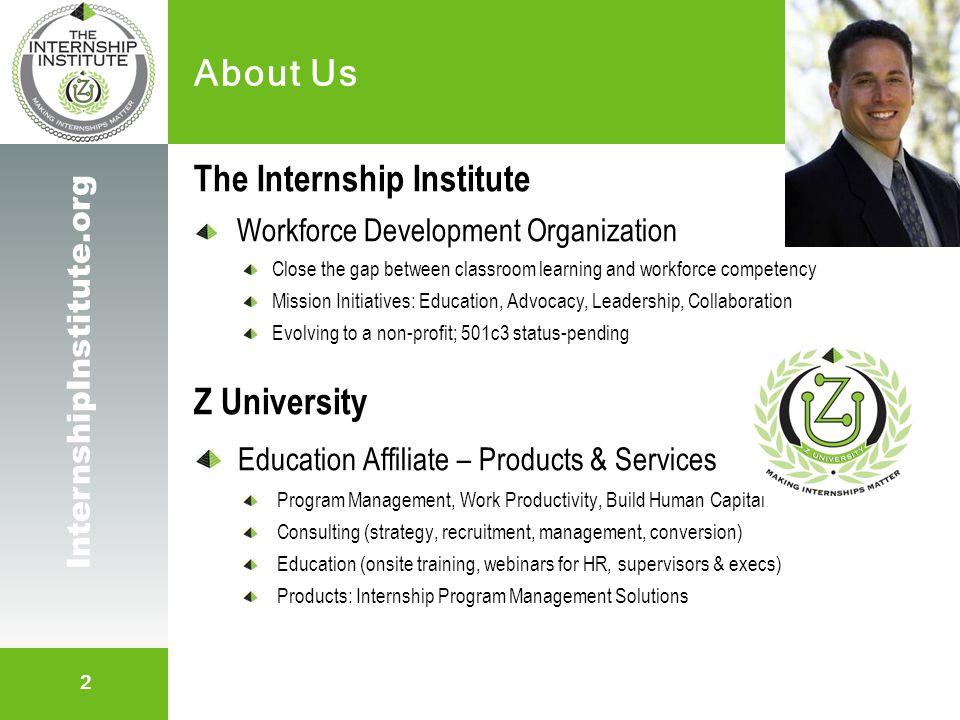 3 InternshipInstitute.org Internship Program Materials Staffing Management System