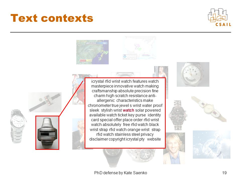 PhD defense by Kate Saenko19 Text contexts icrystal rfid wrist watch features watch masterpiece innovative watch making craftsmanship absolute precisi
