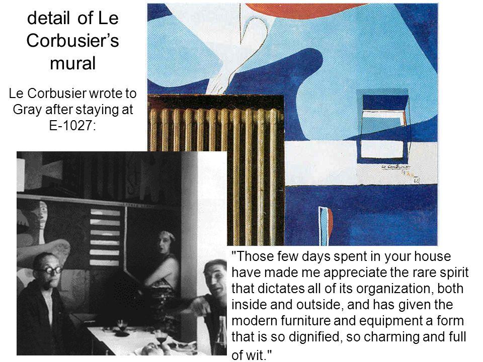 detail of Le Corbusier's mural