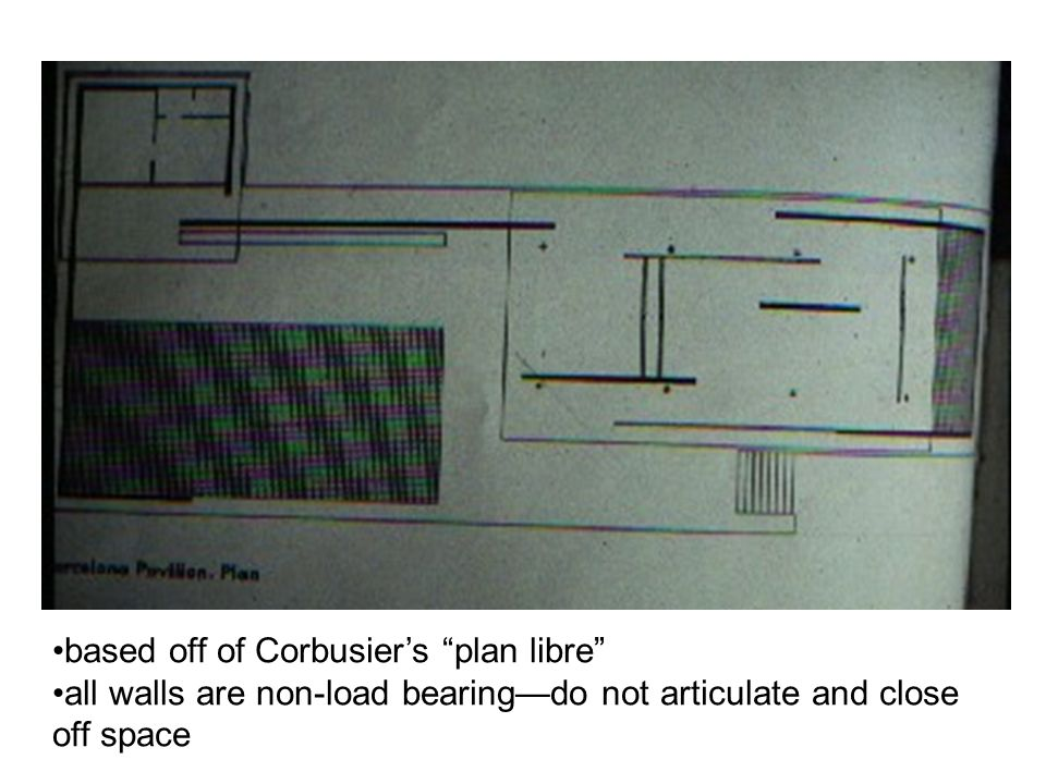 """based off of Corbusier's """"plan libre"""" all walls are non-load bearing—do not articulate and close off space"""