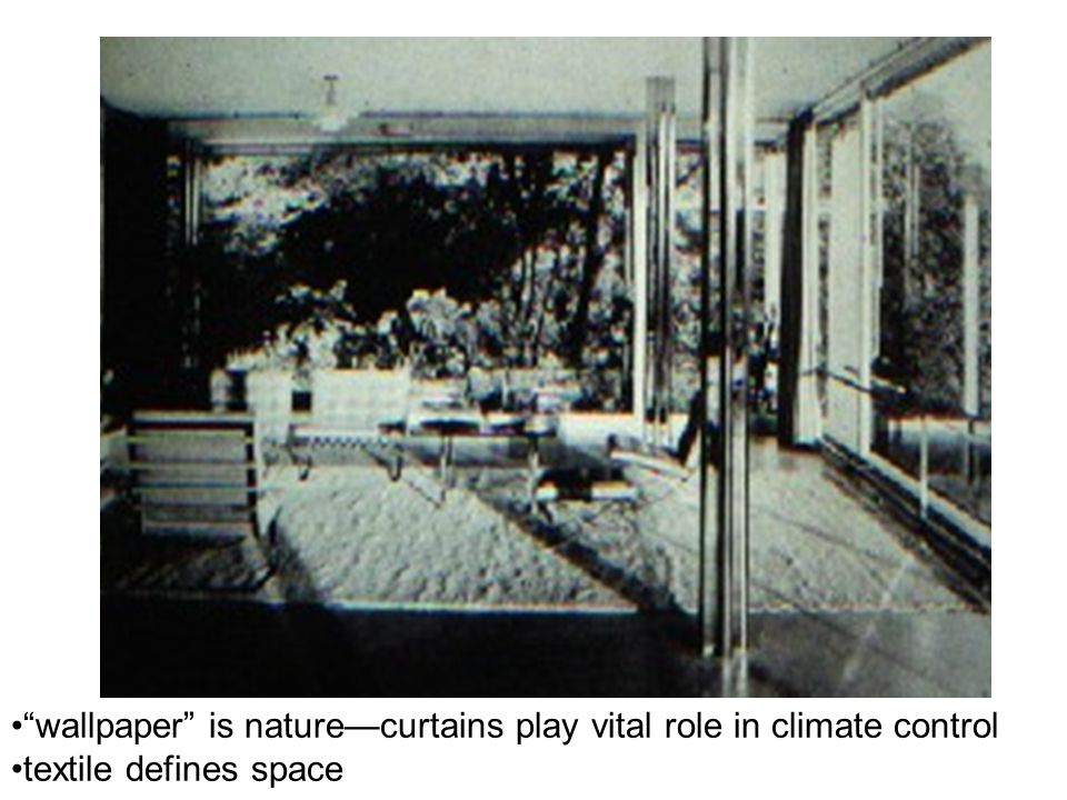 """""""wallpaper"""" is nature—curtains play vital role in climate control textile defines space"""