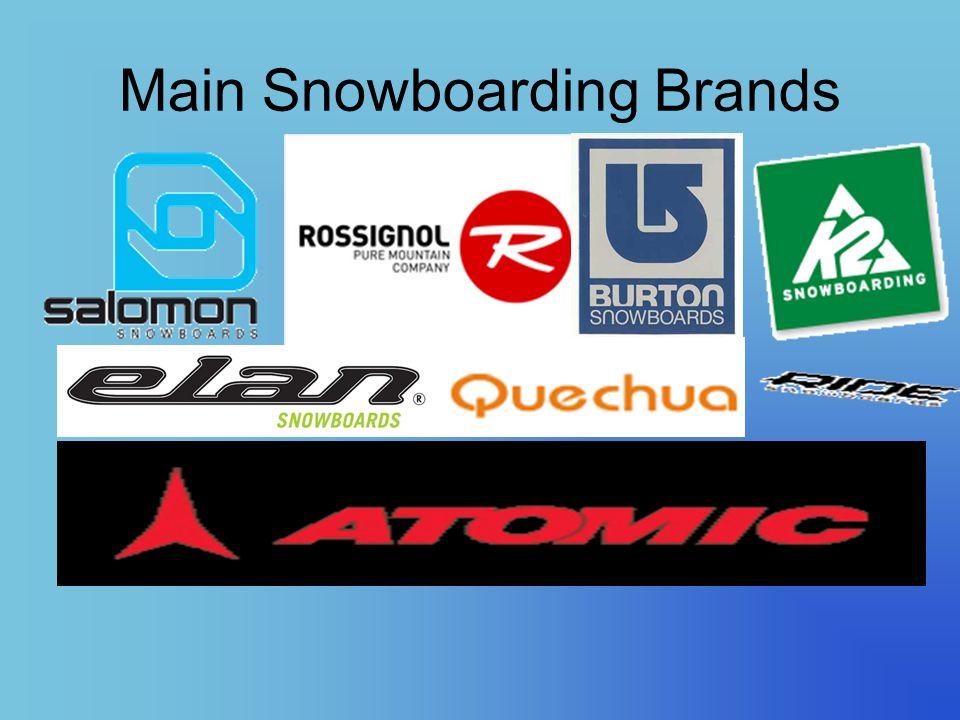 Main Snowboarding Brands