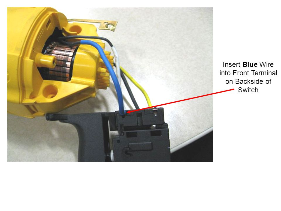 Cordset Assembly: 120 & 115V N079272 & N079273 (Marquardt) Insert Power Cord wires as shown; White wire into the push- in terminal L1 and Black wire into the push-in terminal L2.