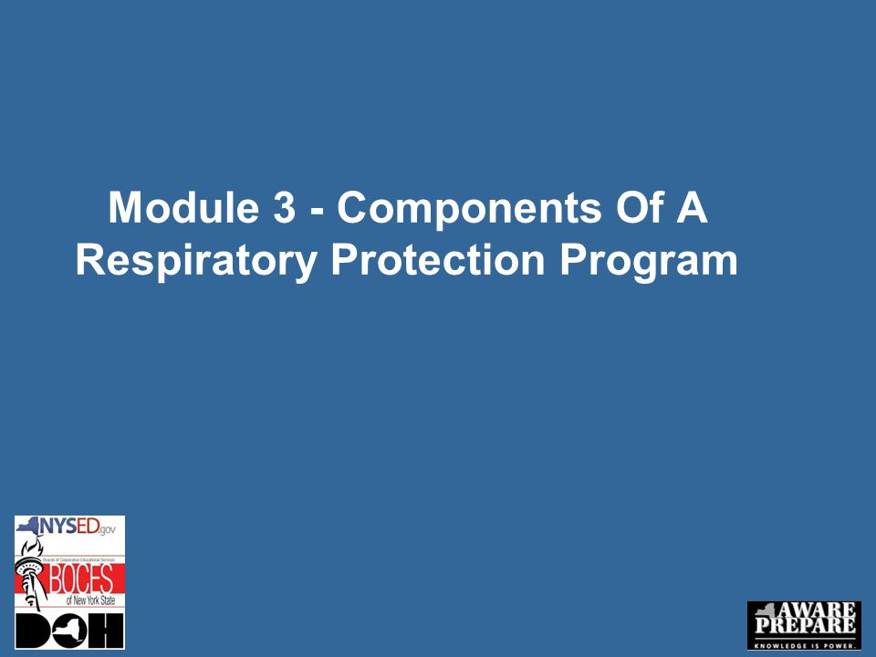 Module 3 - Components Of A Respiratory Protection Program