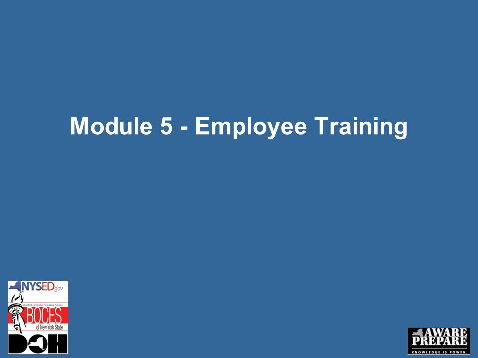 Module 5 - Employee Training