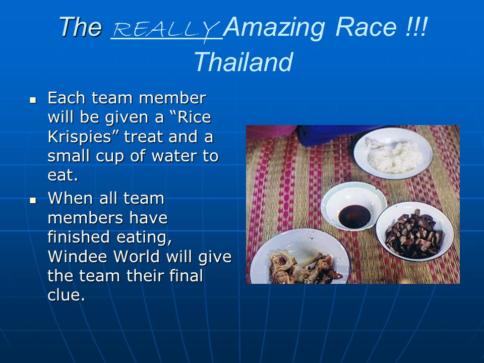 The The REALLY Amazing Race !!.