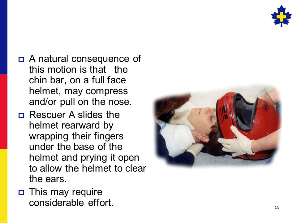 10  A natural consequence of this motion is that the chin bar, on a full face helmet, may compress and/or pull on the nose.