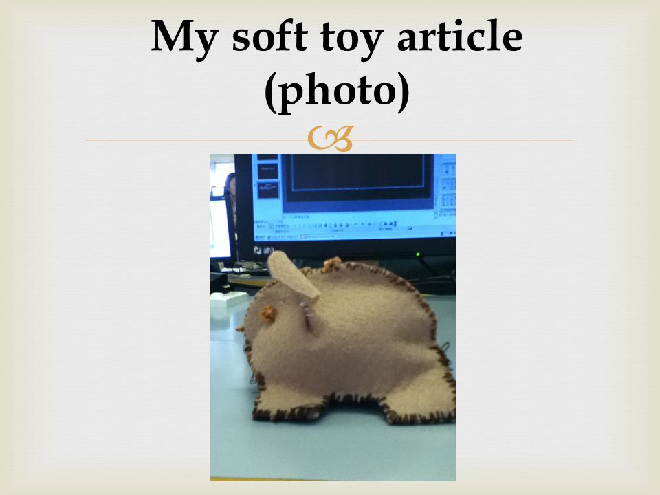  My soft toy article (photo)