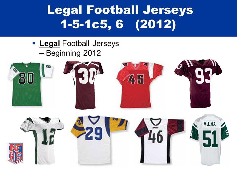 Legal Football Jerseys 1-5-1c5, 6 (2012)  Legal Football Jerseys – Beginning 2012