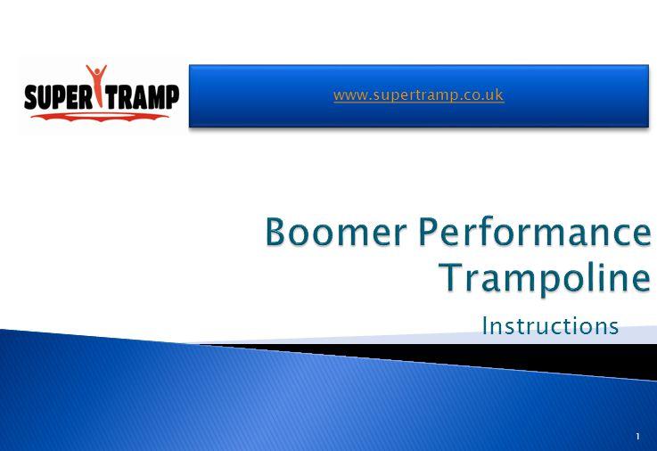 Instructions www.supertramp.co.uk 1