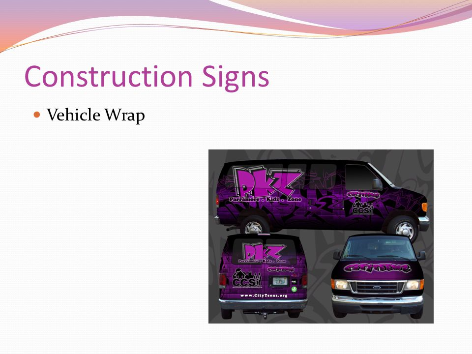 Construction Signs Vehicle Wrap