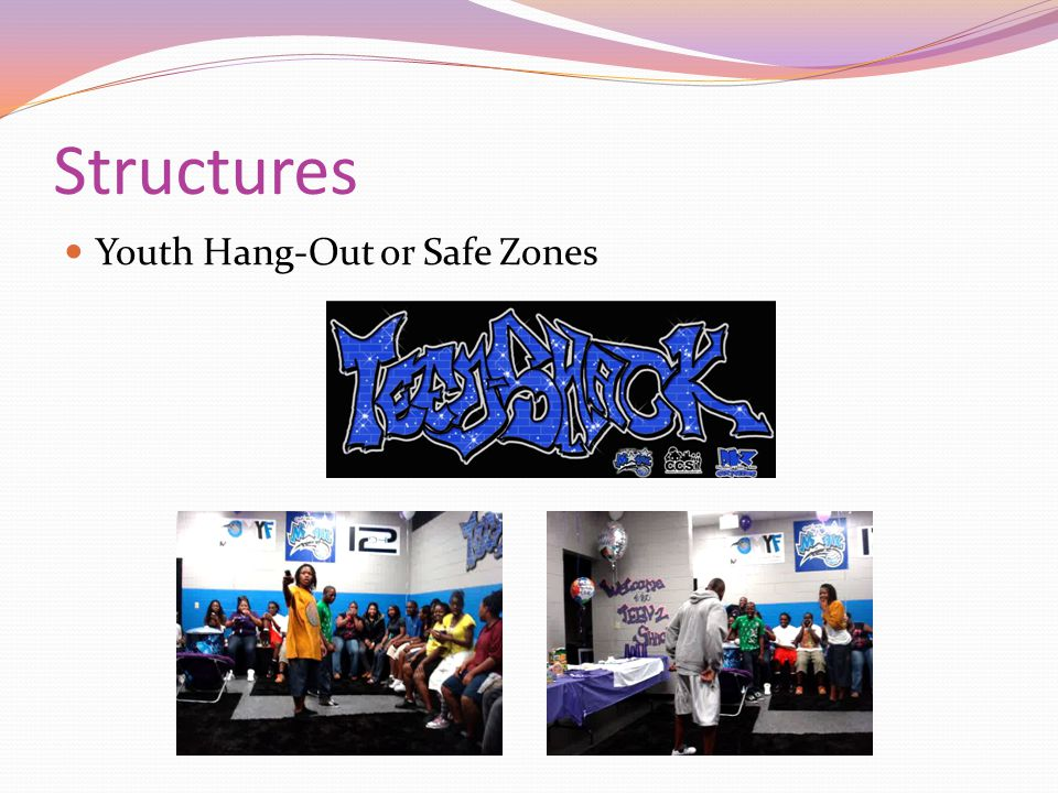 Structures Youth Hang-Out or Safe Zones