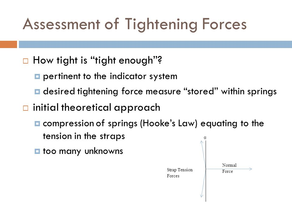 Assessment of Tightening Forces  How tight is tight enough .
