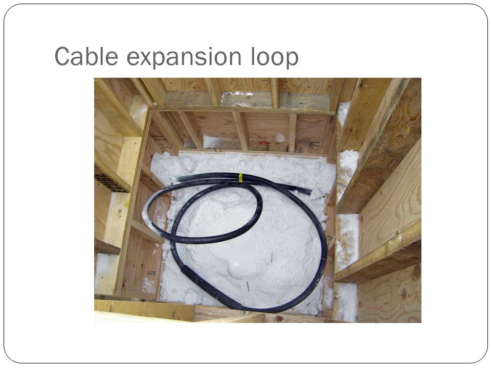 Cable expansion loop