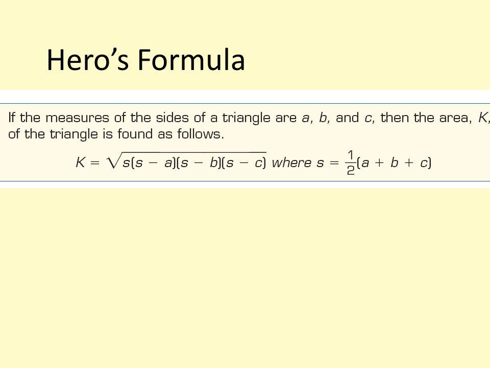 Hero's Formula