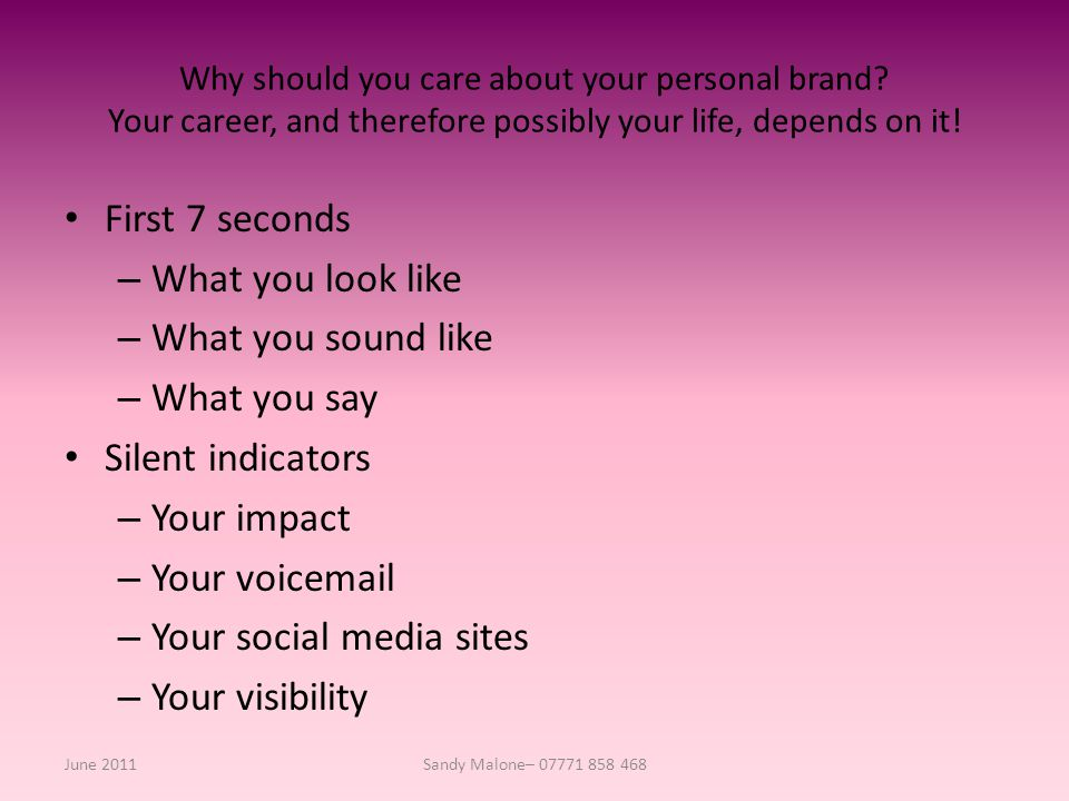 Why should you care about your personal brand.