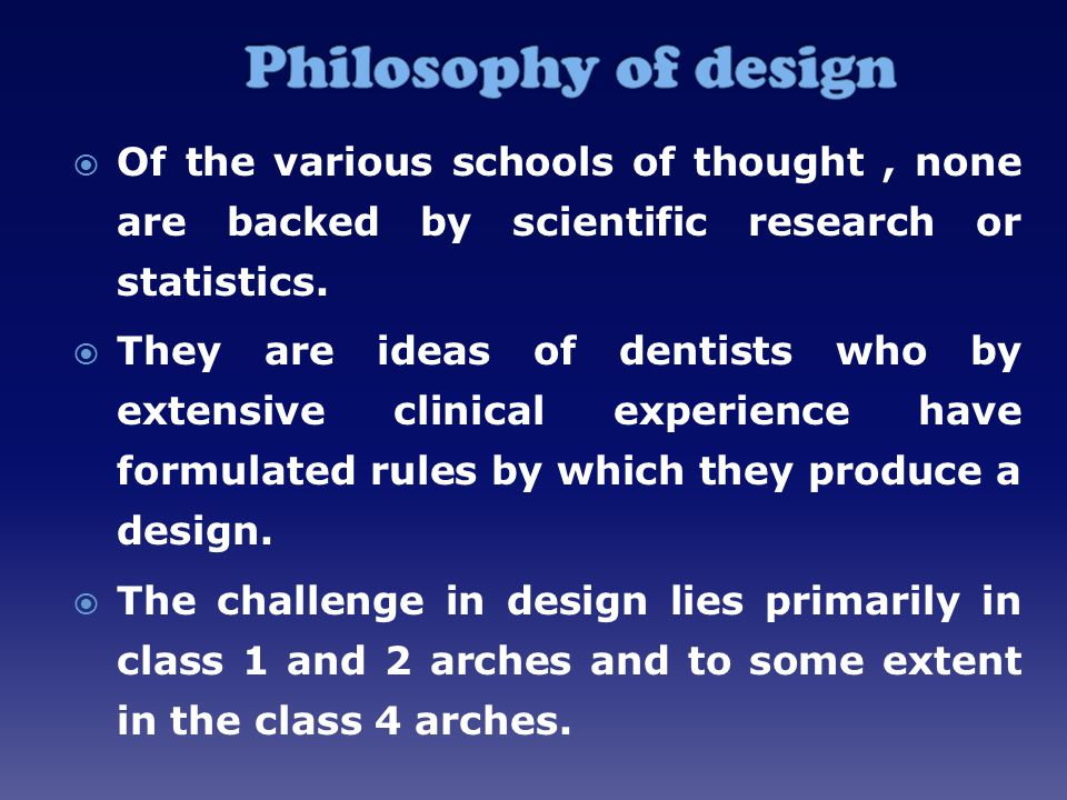  Of the various schools of thought, none are backed by scientific research or statistics.