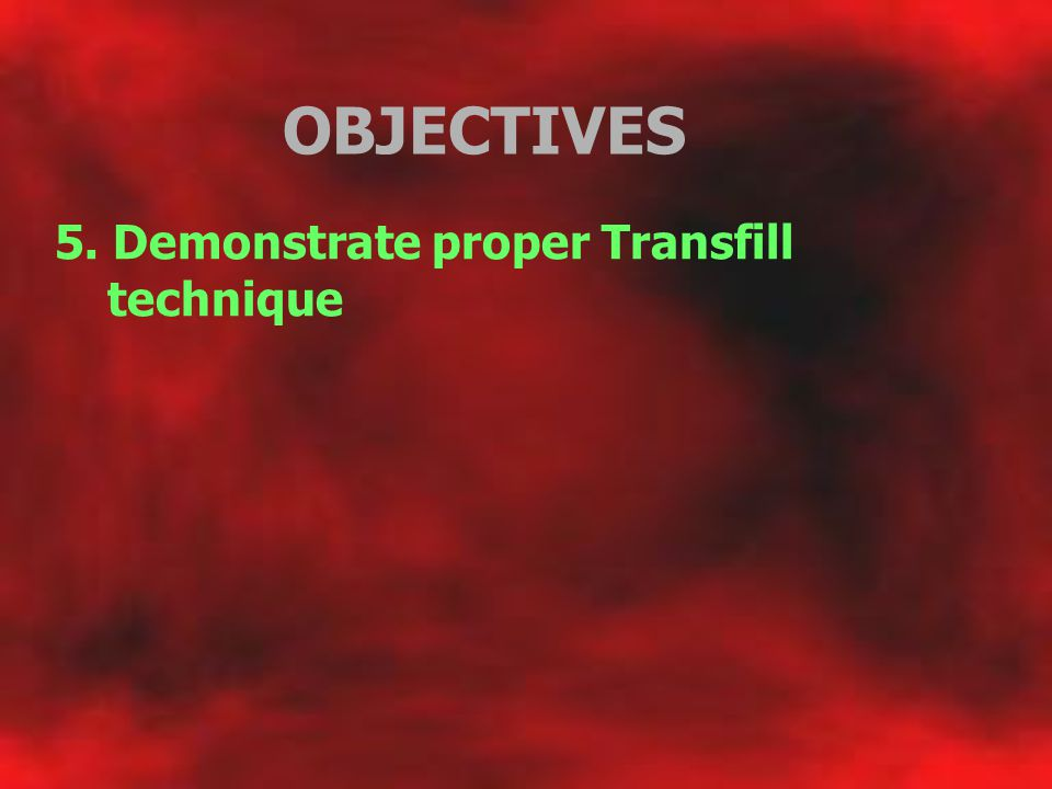 OBJECTIVES 6.
