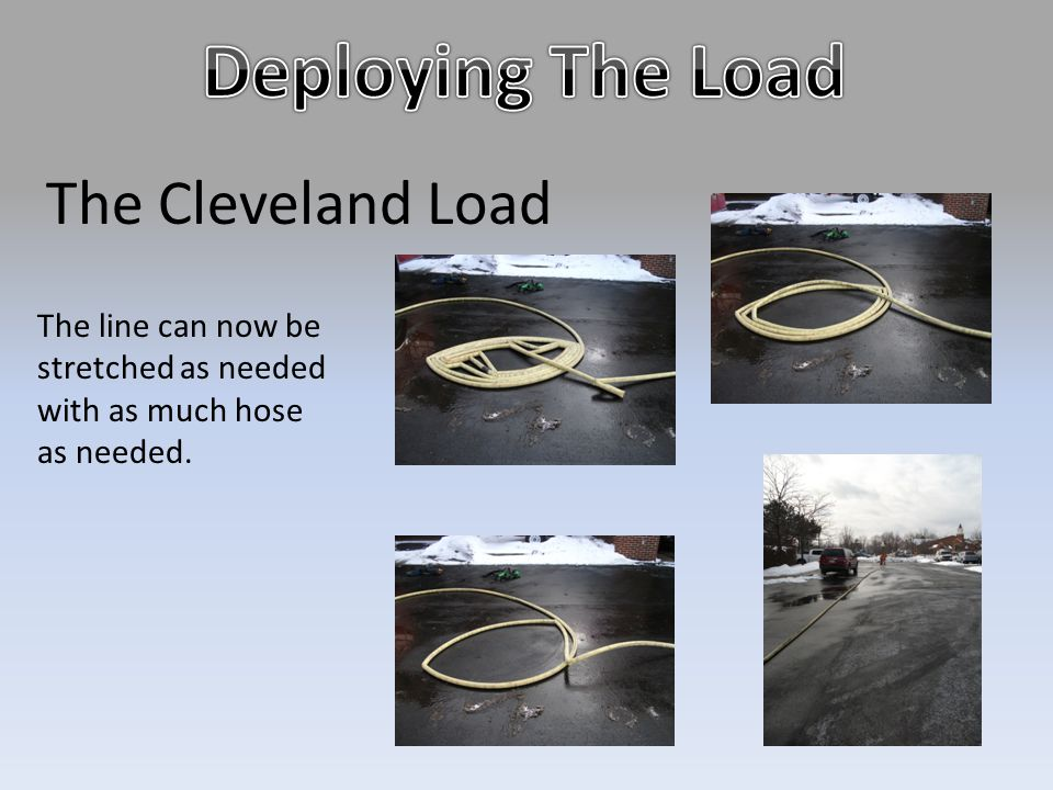 The Cleveland Load The line can now be stretched as needed with as much hose as needed.