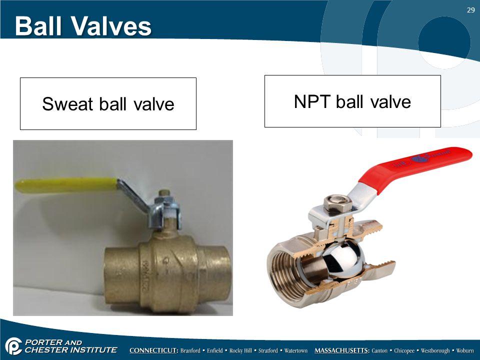 29 Ball Valves Sweat ball valve NPT ball valve