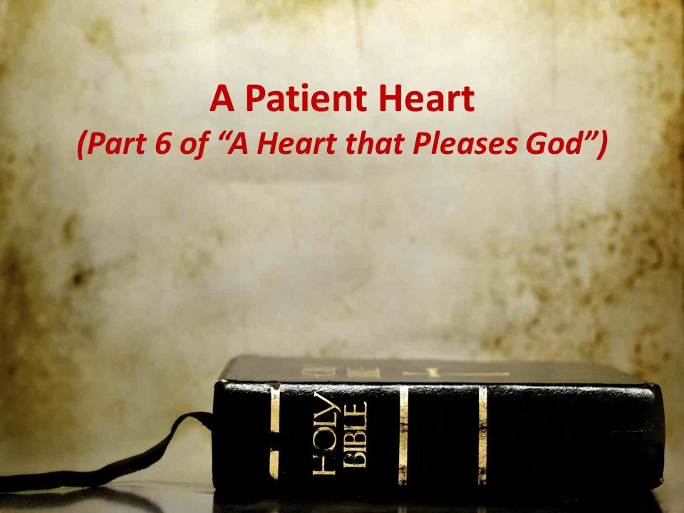 A Patient Heart (Part 6 of A Heart that Pleases God )
