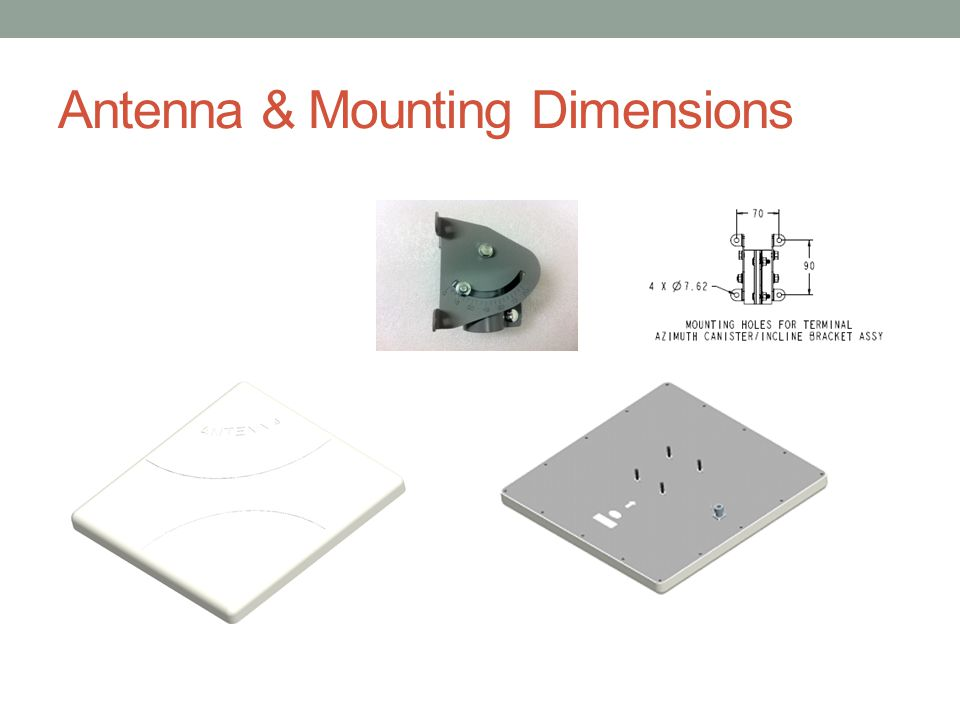Antenna & Mounting Dimensions