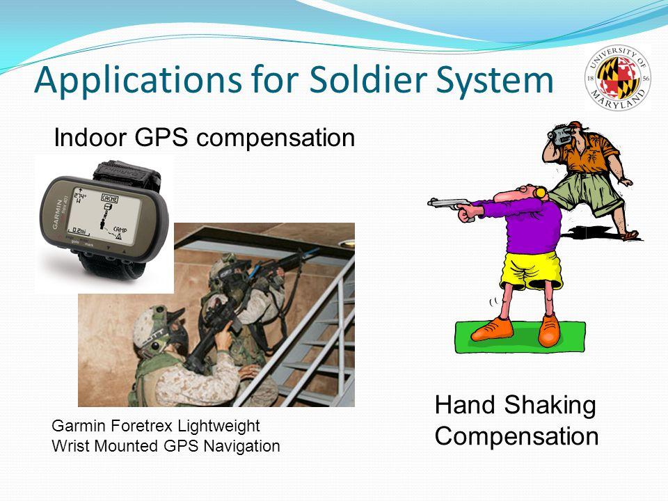 Applications for Soldier System Garmin Foretrex Lightweight Wrist Mounted GPS Navigation Indoor GPS compensation Hand Shaking Compensation