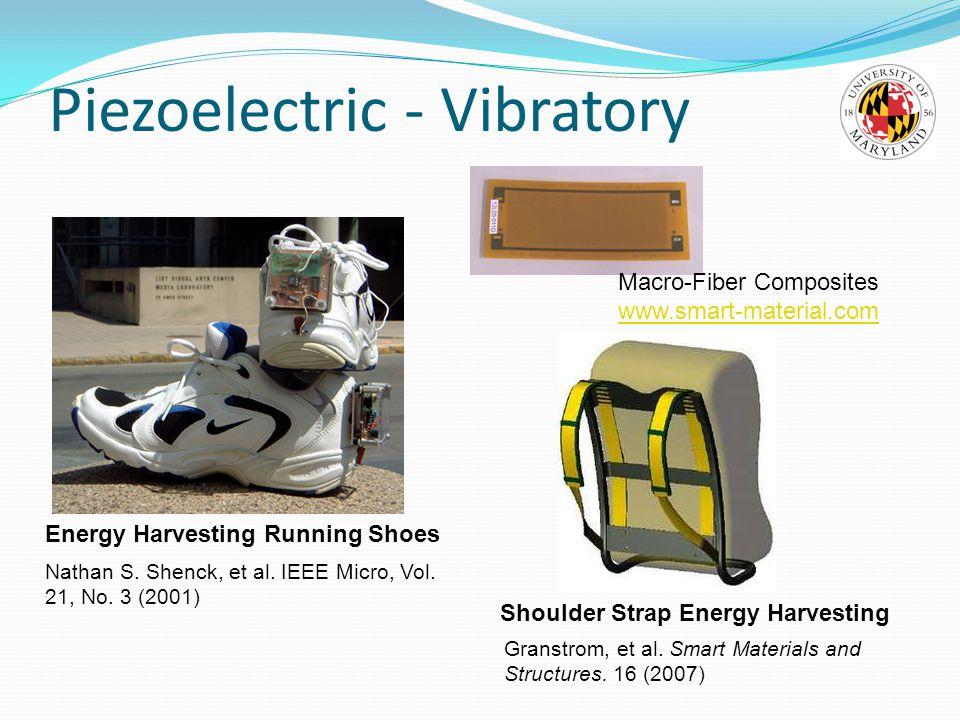Piezoelectric - Vibratory Granstrom, et al.Smart Materials and Structures.