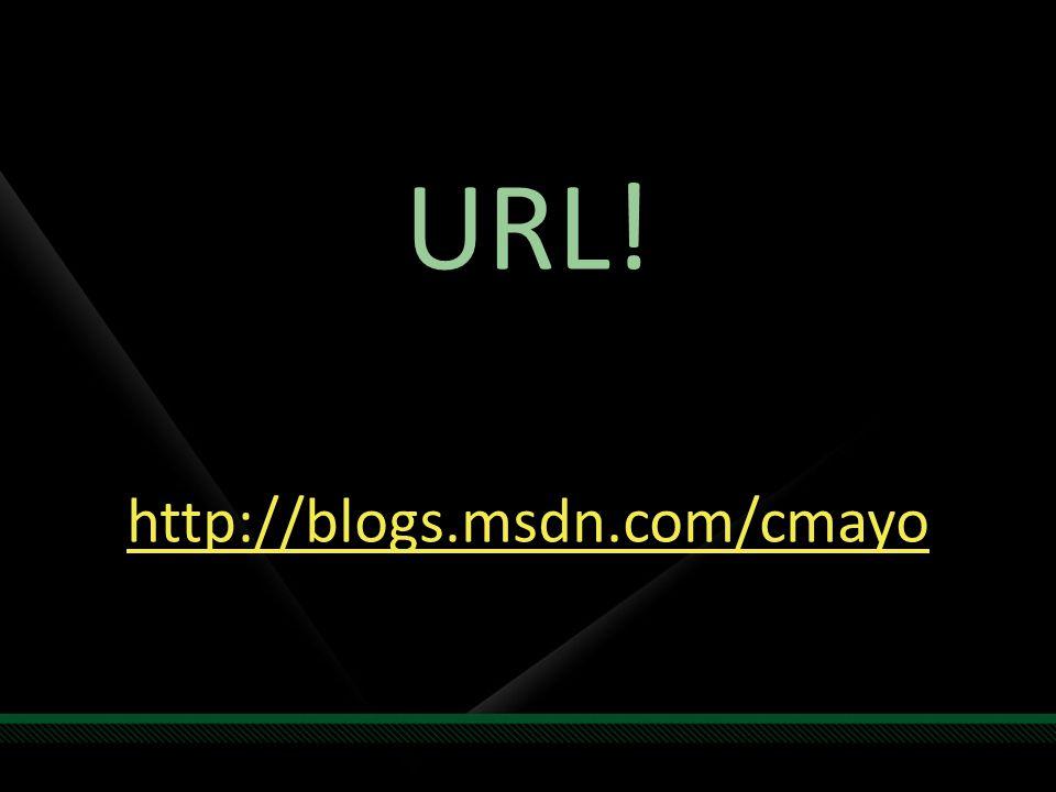 URL! http://blogs.msdn.com/cmayo
