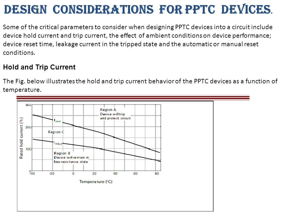 DESIGN CONSIDERATIONS FOR PPTC DEVICES.The Fig.