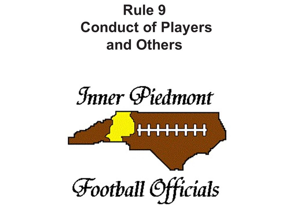 PENALTY: Unsportsmanlike conduct (Arts.1, 2) – (S27) – (S7-27) – if dead ball, 15 yards.