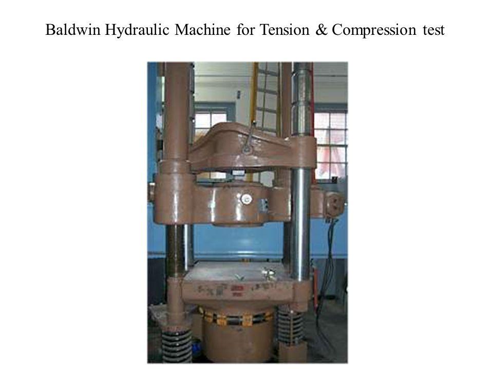 Baldwin Hydraulic Machine for Tension & Compression test